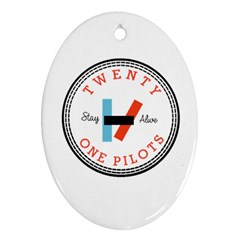 Twenty One Pilots Ornament (oval) by Celenk