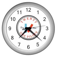 Twenty One Pilots Wall Clocks (silver)  by Celenk