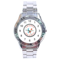 Twenty One Pilots Stainless Steel Analogue Watch by Celenk