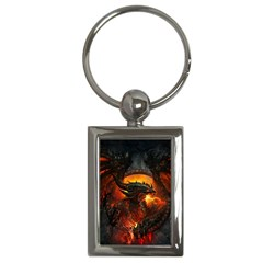 Dragon Legend Art Fire Digital Fantasy Key Chains (rectangle)  by Celenk