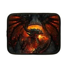 Dragon Legend Art Fire Digital Fantasy Netbook Case (small)  by Celenk