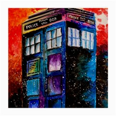 Dr Who Tardis Painting Medium Glasses Cloth (2 Side) by Celenk