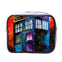 Dr Who Tardis Painting Mini Toiletries Bags by Celenk