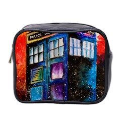 Dr Who Tardis Painting Mini Toiletries Bag 2 Side by Celenk