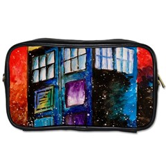 Dr Who Tardis Painting Toiletries Bags by Celenk