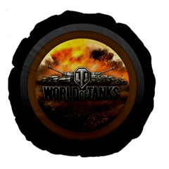 World Of Tanks Wot Large 18  Premium Round Cushions by Celenk