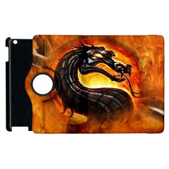Dragon And Fire Apple Ipad 3/4 Flip 360 Case by Celenk