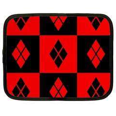 Harley Quinn Logo Pattern Netbook Case (large)