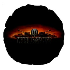 World Of Tanks Large 18  Premium Round Cushions by Celenk
