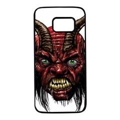 Krampus Devil Face Samsung Galaxy S7 Black Seamless Case by Celenk