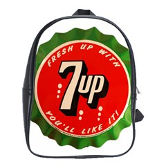 Fresh Up With  7 Up Bottle Cap Tin Metal School Bag (xl) by Celenk