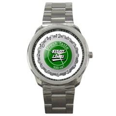Fresh Taste Fizzy Lime Bottle Cap Sport Metal Watch by Celenk