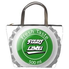 Fresh Taste Fizzy Lime Bottle Cap Bucket Bags by Celenk