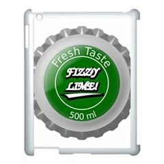Fresh Taste Fizzy Lime Bottle Cap Apple Ipad 3/4 Case (white) by Celenk
