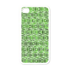 Classic Blocks,green Apple Iphone 4 Case (white) by MoreColorsinLife