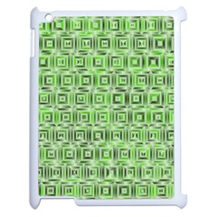 Classic Blocks,green Apple Ipad 2 Case (white) by MoreColorsinLife