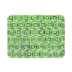 Classic Blocks,green Double Sided Flano Blanket (mini)  by MoreColorsinLife