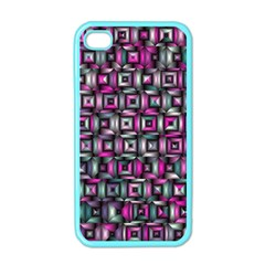 Classic Blocks,pink Combo Apple Iphone 4 Case (color) by MoreColorsinLife