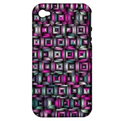 Classic Blocks,pink Combo Apple Iphone 4/4s Hardshell Case (pc+silicone) by MoreColorsinLife