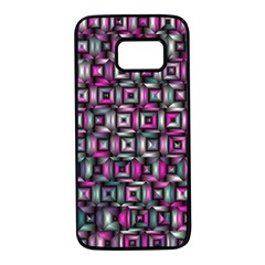 Classic Blocks,pink Combo Samsung Galaxy S7 Black Seamless Case by MoreColorsinLife