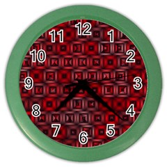 Classic Blocks,red Color Wall Clocks by MoreColorsinLife