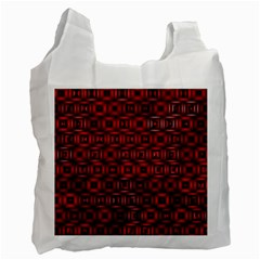 Classic Blocks,red Recycle Bag (one Side) by MoreColorsinLife