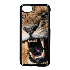 Male Lion Angry Apple Iphone 8 Seamless Case (black) by Celenk