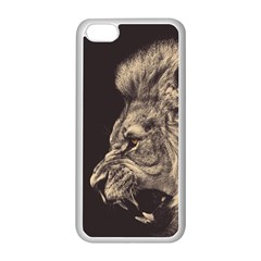 Angry Male Lion Apple Iphone 5c Seamless Case (white) by Celenk