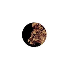 Angry Male Lion Gold 1  Mini Buttons by Celenk
