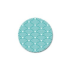 Art Deco Teal Golf Ball Marker (4 Pack) by 8fugoso