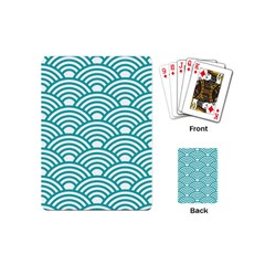 Art Deco Teal Playing Cards (mini)  by 8fugoso