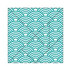 Art Deco Teal Acrylic Tangram Puzzle (6  X 6 ) by 8fugoso
