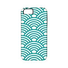 Art Deco Teal Apple Iphone 5 Classic Hardshell Case (pc+silicone) by 8fugoso
