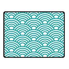 Art Deco Teal Double Sided Fleece Blanket (small)  by 8fugoso