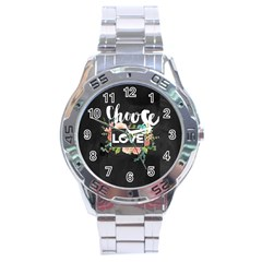 Love Stainless Steel Analogue Watch by 8fugoso