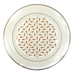 Koi Fishes Motif Pattern Porcelain Plates by dflcprintsclothing