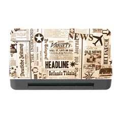 Vintage Newspapers Headline Typography Memory Card Reader With Cf by yoursparklingshop