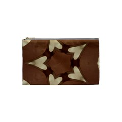 Chocolate Brown Kaleidoscope Design Star Cosmetic Bag (small)  by yoursparklingshop