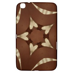 Chocolate Brown Kaleidoscope Design Star Samsung Galaxy Tab 3 (8 ) T3100 Hardshell Case  by yoursparklingshop