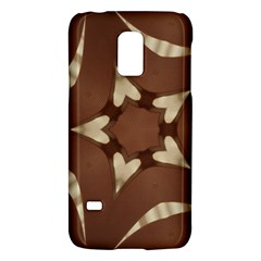 Chocolate Brown Kaleidoscope Design Star Galaxy S5 Mini by yoursparklingshop