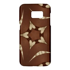 Chocolate Brown Kaleidoscope Design Star Samsung Galaxy S7 Hardshell Case  by yoursparklingshop
