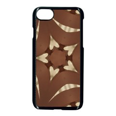 Chocolate Brown Kaleidoscope Design Star Apple Iphone 8 Seamless Case (black) by yoursparklingshop