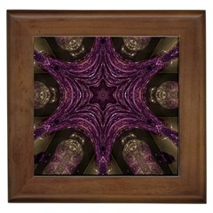 Pink Purple Kaleidoscopic Design Framed Tiles by yoursparklingshop
