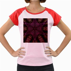 Pink Purple Kaleidoscopic Design Women s Cap Sleeve T Shirt by yoursparklingshop