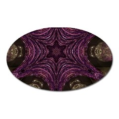 Pink Purple Kaleidoscopic Design Oval Magnet by yoursparklingshop