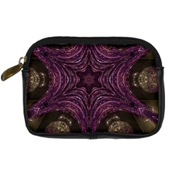 Pink Purple Kaleidoscopic Design Digital Camera Cases by yoursparklingshop