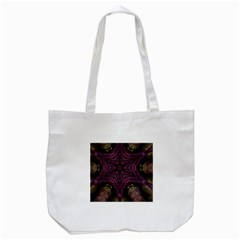 Pink Purple Kaleidoscopic Design Tote Bag (white) by yoursparklingshop
