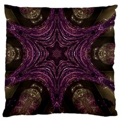 Pink Purple Kaleidoscopic Design Standard Flano Cushion Case (two Sides) by yoursparklingshop