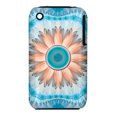 Clean And Pure Turquoise And White Fractal Flower Iphone 3s/3gs by jayaprime