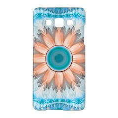 Clean And Pure Turquoise And White Fractal Flower Samsung Galaxy A5 Hardshell Case  by beautifulfractals